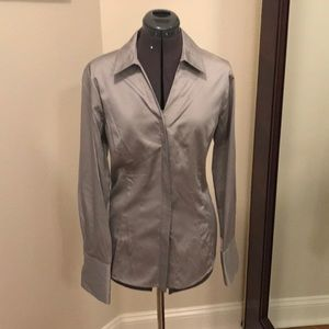 Pewter Fitted Blouse by Antonio Melani Size L